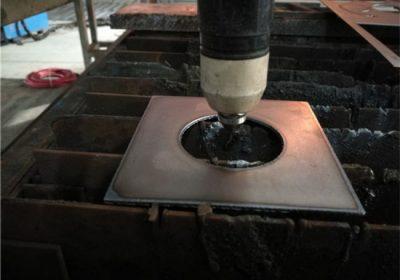 CNC Pabrik pasokan plasma lan mesin pemotong meja api kanggo piring logam