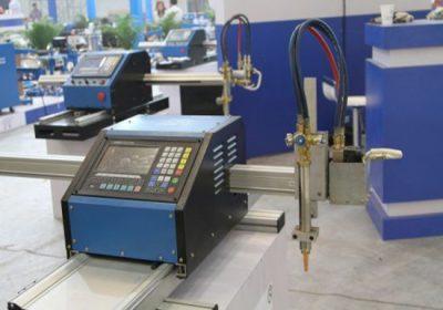 Loro-lorone metal sheet lan pipa logam CNC machine cutting, karo loro pemotongan plasma lan obor pemecah oxy-fuel